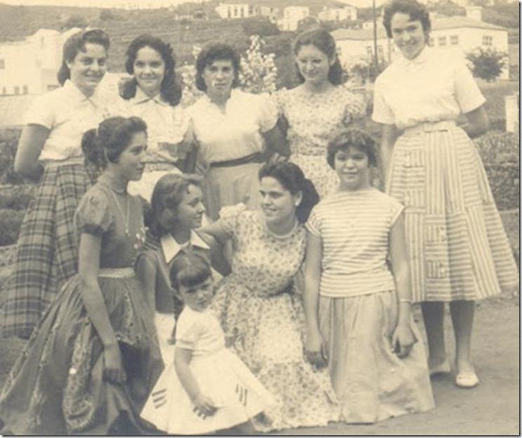1950s. Diez en Boca de La Carretera