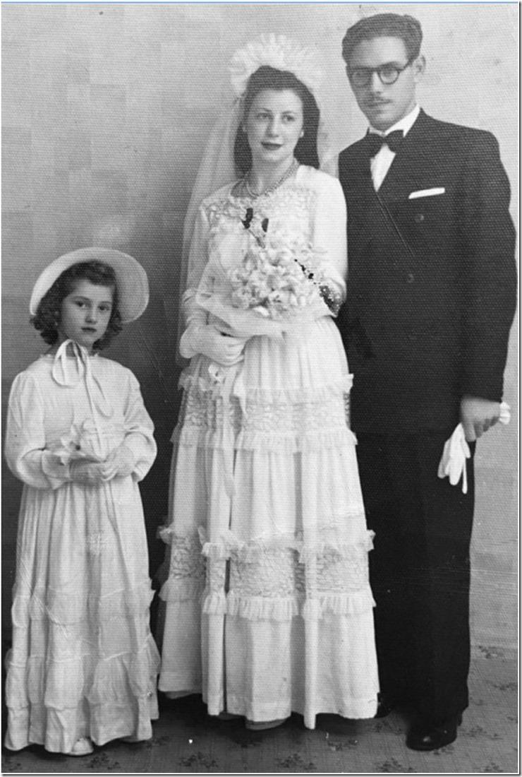 1944. Boda de Nolo y Lidia