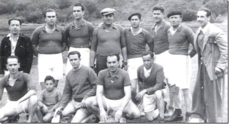 1954. Amigos en Los Jables